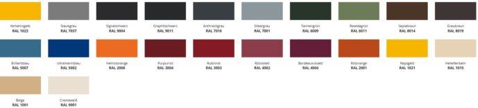 Briefkasten Farben